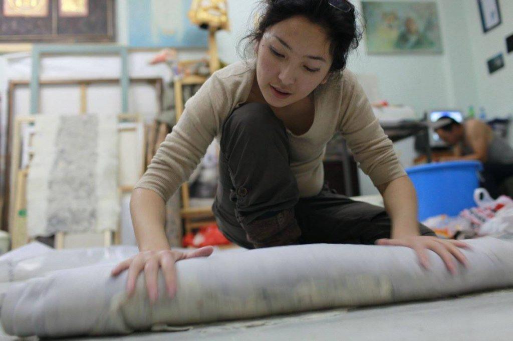 Mongolian handicrafts fair trade Pure organic sheeps wool