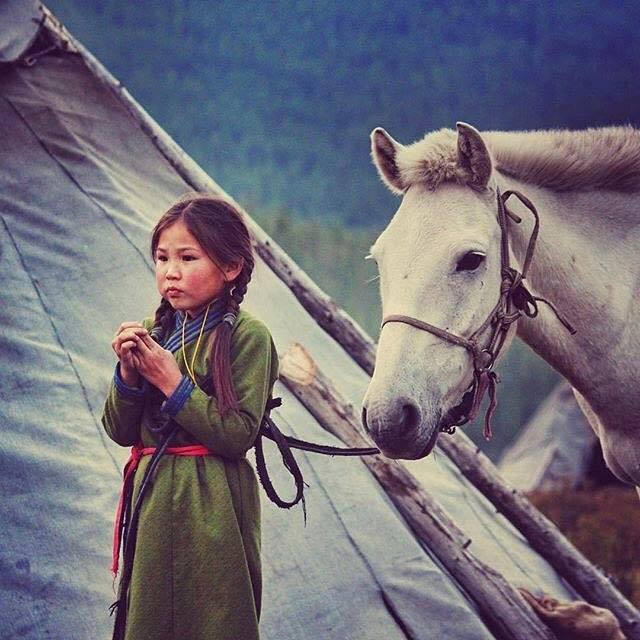 Authentic Mongolian child education fair trade yak wool